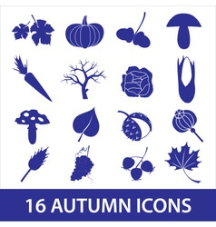 Autumn icons eps10 vector