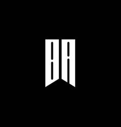 ba logo monogram with emblem style isolated vector image