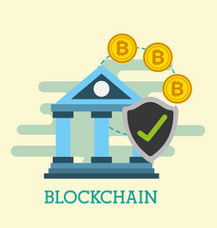bank financial economy bitcoins blockhain vector image