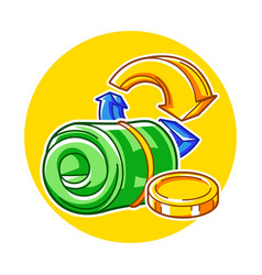 Banking with money items business vector
