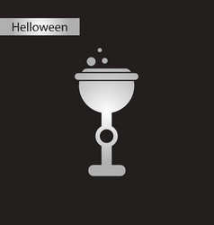 Black and white style icon halloween cup potion vector