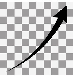 Black arrow infographic chart vector