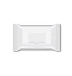 Blank of wet wipe flow packing vector