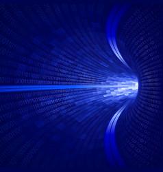 Blue binary tunnel vector
