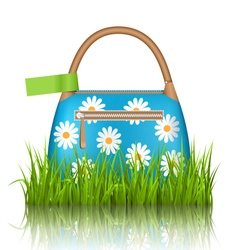 Blue woman bag isolated on white vector image