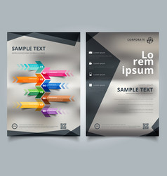 brochure template geometric black color scheme vector image