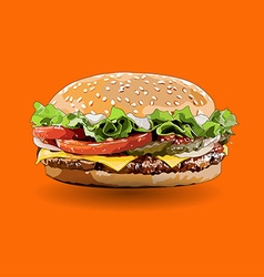 burger zoom out vector image