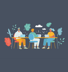 business meeting co working vector image