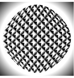 Checkered sphere with gradient fills on squares vector