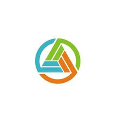 circle geometry technology logo vector image