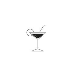 cocktail martini icon vector image