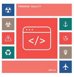 code editor icon elements for your design vector image