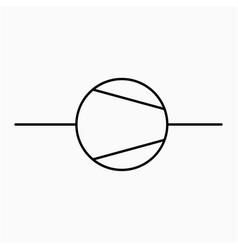 Compressor symbol icon vector