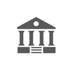 court building icon on white background vector image