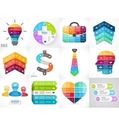 Creative arrows infographics set diagrams vector