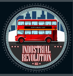 double deck red bus vector image