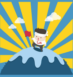 flat success vector image