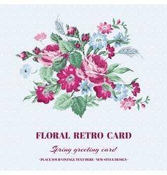 Floral shabchic card - vintage design vector