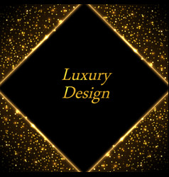 gold luxury border frame golden glwing lines on vector image