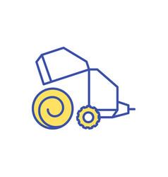 Hay making rgb color icon vector