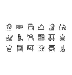 Kitchen and cookware icons set 2 vector