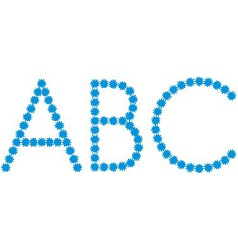 Letter a b c from snowflakes vector
