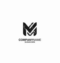letter m logo icon design template stock vector image
