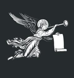 llustration angel vector image