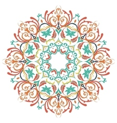 Mandala Round Colored Ornament Pattern vector