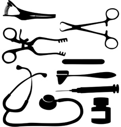 Medical tool black 03 vector image
