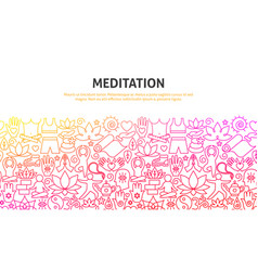 meditation concept banner vector image