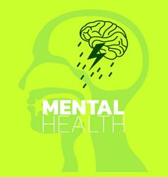 Mental health icon logo mental health awareness vector