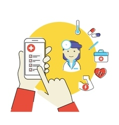 mobile app for health vector image