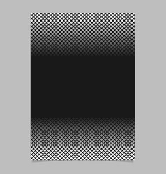 monochrome halftone geometric dot and square vector image