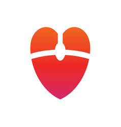 Mouse love logo icon computer mouse and heart vector