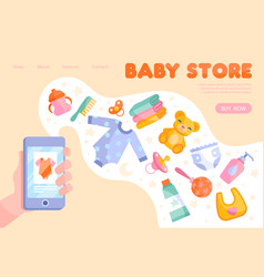 Online baby store inventory concept vector