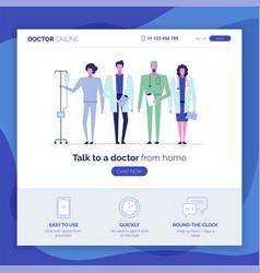 Online doctor set 3 vector