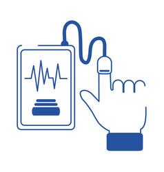 online doctor smartphone blood pressure test care vector image