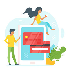 Online payment concept vector