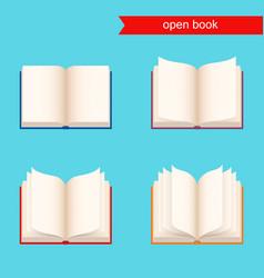 open book icon set vector image