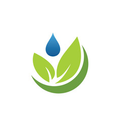 Organic green leaf bio logo vector