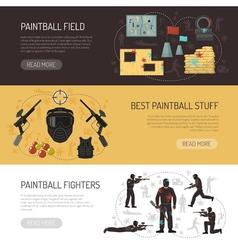 Paintball Horizontal Banners vector