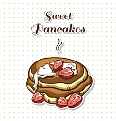 Pancakes With Strawberry vector