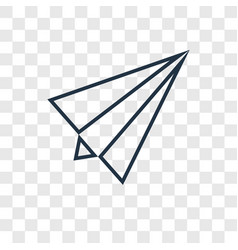 paper plane concept linear icon isolated on vector image