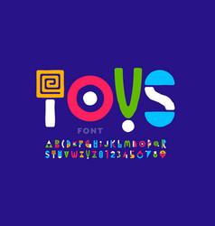 Playful style font childish alphabet vector
