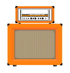 Realistic classic guitar amplifier with cabinet vector