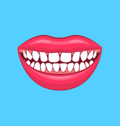 realistic detailed 3d dental problem on a blue vector image