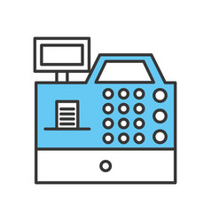 register machine isolated icon vector image