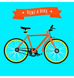 rent a bike vector image