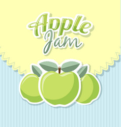 Retro apple jam label vector